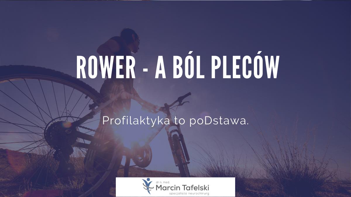 rower a ból pleców